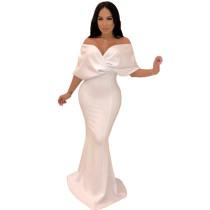 Sweetheart White Off Shoulder Evening Dress