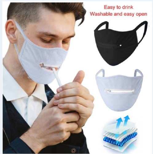Fashion Mesh Mask with Zipper(non-protective)