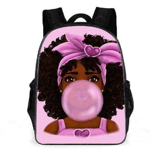 African Girl Print School Bag Bagpack