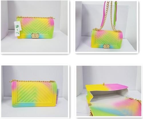 Fashion Chain Candy Color Jelly Bag Women Handbag
