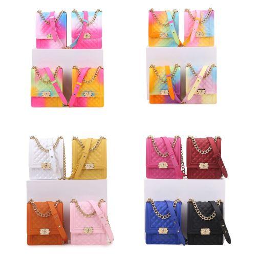 New Chain Candy Color Jelly Bag Women Handbag