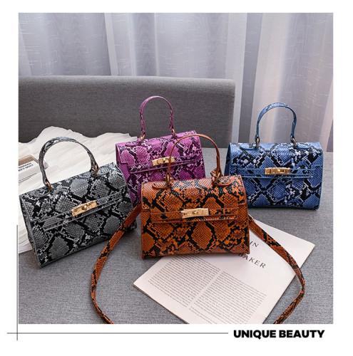 Snakeskin Handbag Satchel for Women