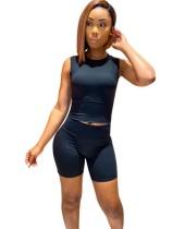 Black Sleeveless Top & Shorts