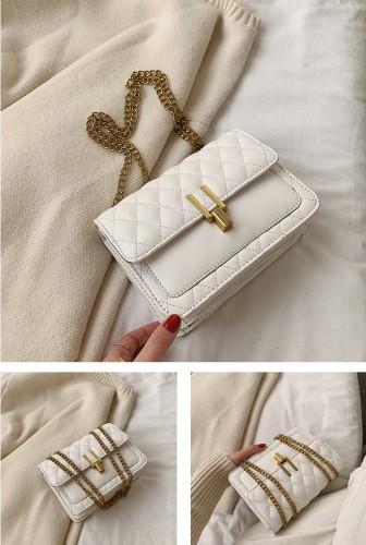 Chain PU Leather Handbag Women Purse