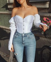 Strapless Lace Up Back Corset Top