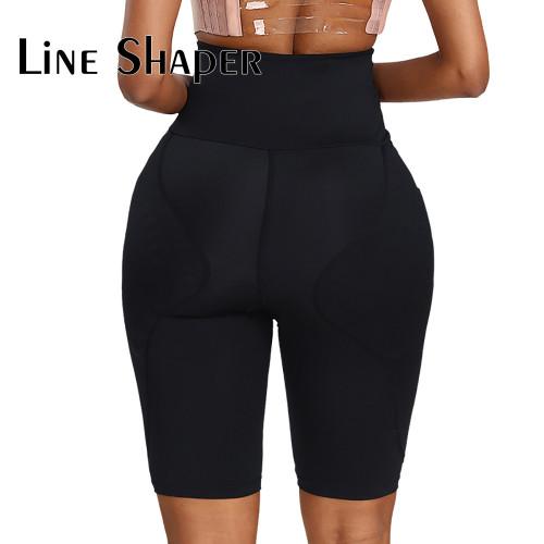 Black High Waist  Foam Padded Body Shaper Shorts
