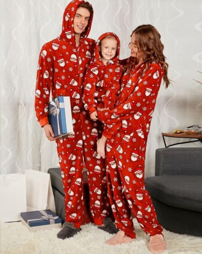 Christmas Matching Family Clothing Pajamas Jumpsuit for Mom
