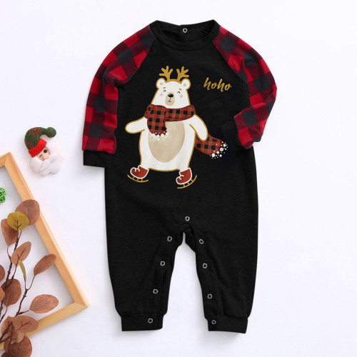 Christmas Print Family Clothing Lounge Romper for Baby