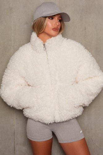 Solid Zipper Winter Warm Fleece Jacket