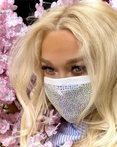 Fashion Rhinestone Sparkle Face Mask ( 2PC Pack)