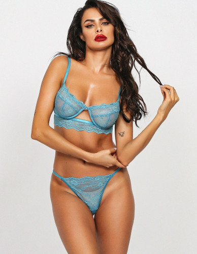 Sexy Lace Lingerie Bra and Pantie Set