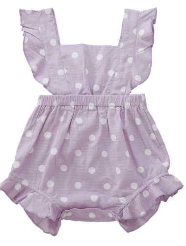 Baby Girl Comfortable Dot Print Rompers