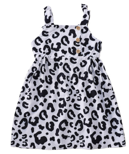 Baby Girl Leopard Print Wide Straps Dress