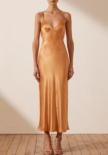 Sexy Deep-V Cami Maxi Dress