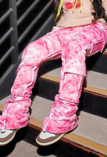Tie Dye Casual Pants With Pockets