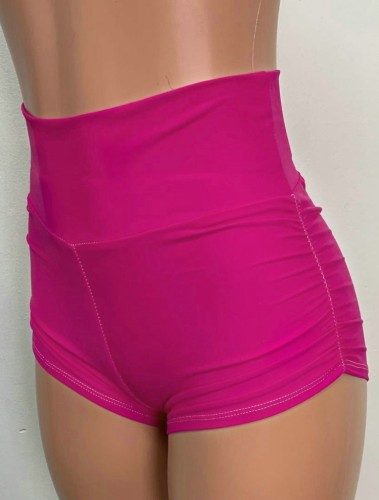 Pink High Waisted Sports Shorts