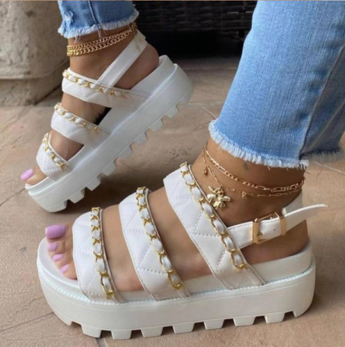 Trendy Chains High Platform Sandal