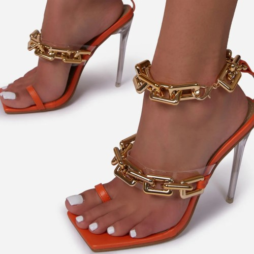 Chains Thin High Heel Sandal for Women