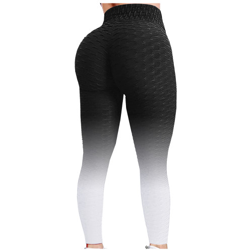 Gradient Textured Yoga Pants