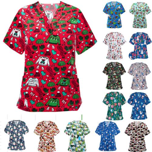 Hot Sale Cartoon Print Nurse Shirt