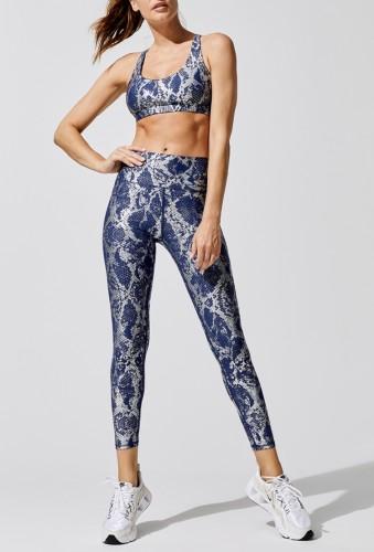 Print Bra and High Waist Leggings Two Piece Yoga Set