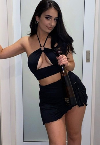 Black Sexy Halter Hollow Out Crop Top and Mini Skirt Set