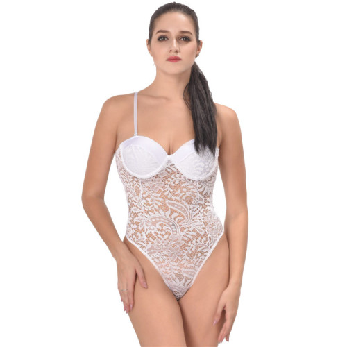 White Push-up Sexy Lace Teddies Lingerie