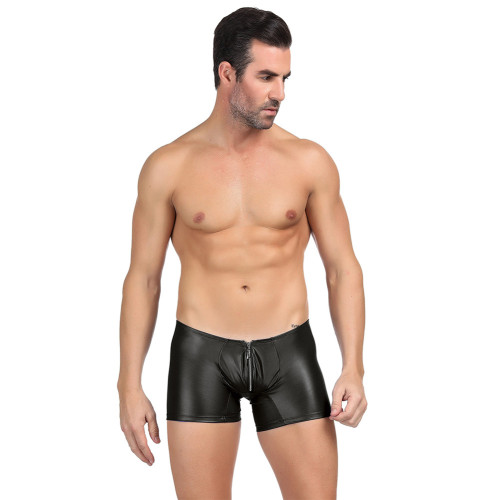Men's PU Leather Panty With Zipper