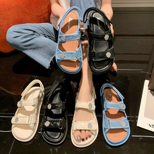 Fashion Double Straps Womens Sandals