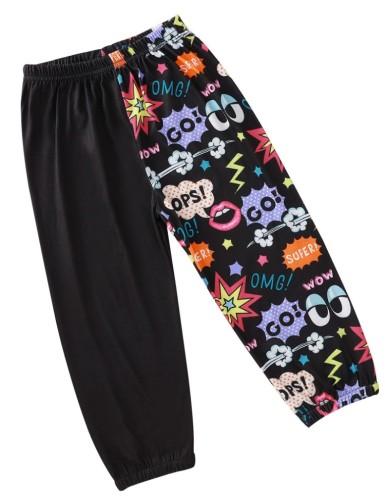 Kids Black Print Pants for boy
