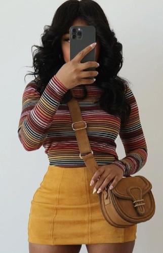 Colorful Stripe Long Sleeve Tee