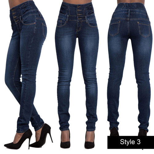 High Waisted Light Blue Tight Jeans