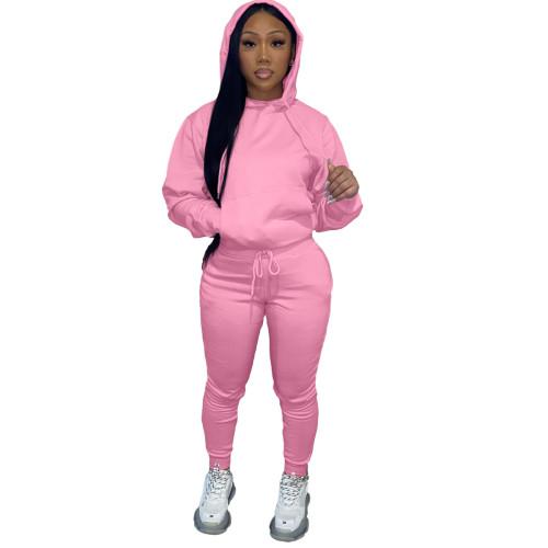 Winter Warm Pink Causal Sweatsuits