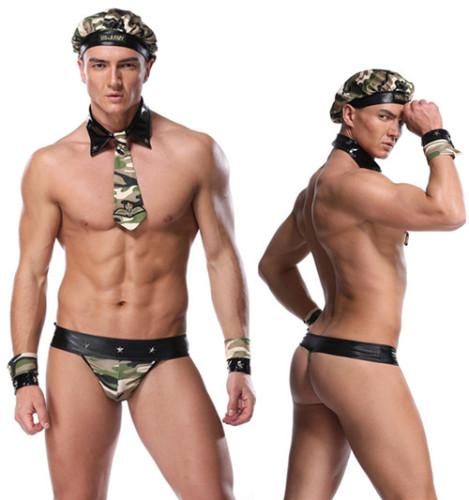 Sexy Men's Camouflage Suit Men's Lingerie