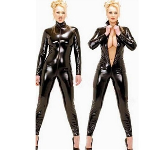 PU Leather Women Lingerie Catsuits