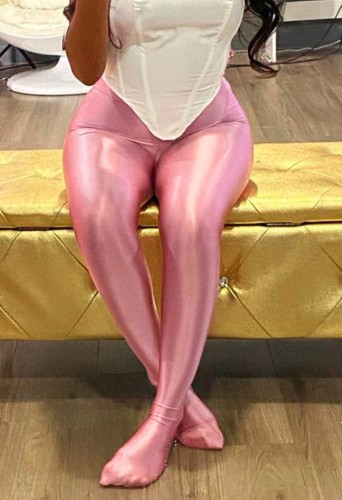 Pink Fitted Leggings