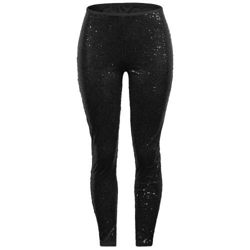 Sexy Sequin Black Bodycon Party Pants