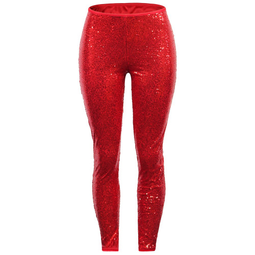 Sexy Sequin Red Bodycon Party Pants