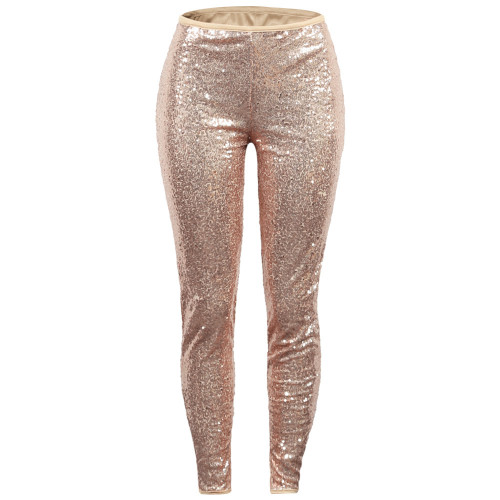 Sexy Sequin Apricot Bodycon Party Pants
