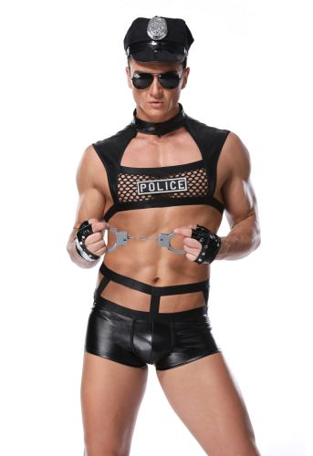 Sexy Cosplay Police Suit Men's Lingerie