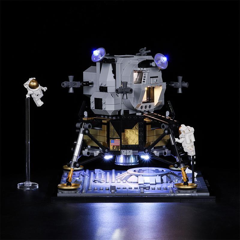 Vonado LED Building Block Accessory Kit for Lego Apollo No.11 Moon Warehouse