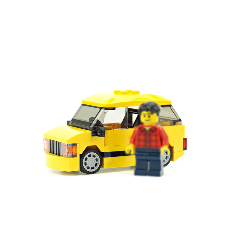 MOC-14947 Yellow car for camper trailer