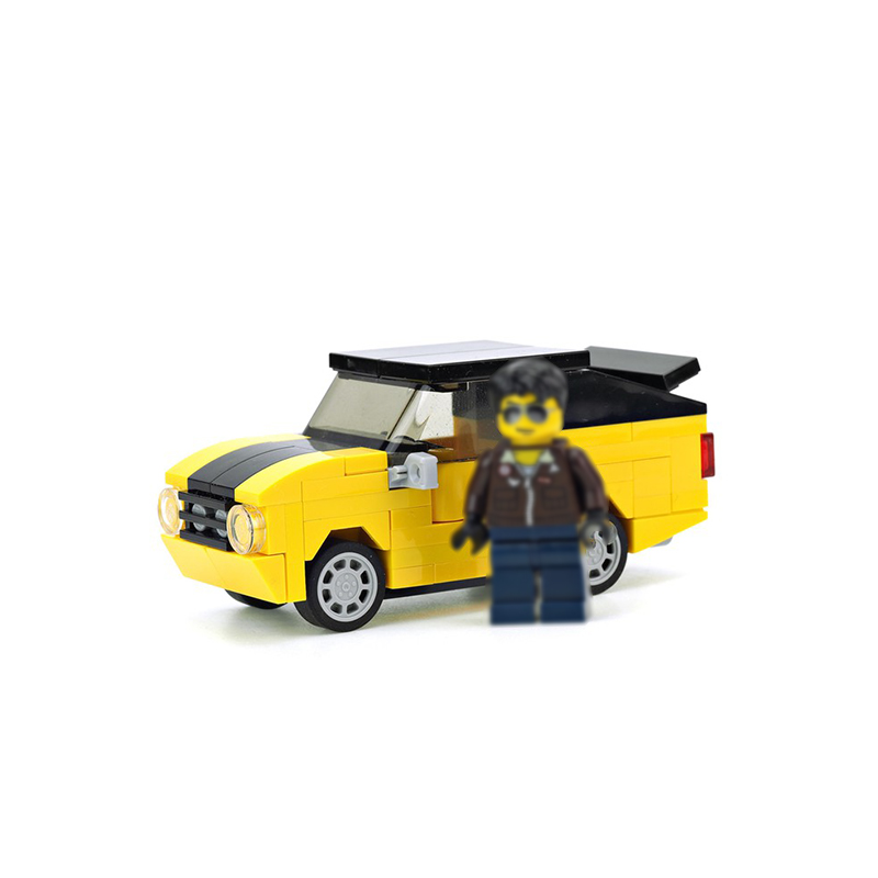MOC-15979 Yellow muscle car