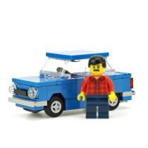 MOC-22710 Blue car ZAZ-968M