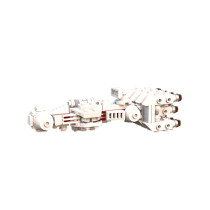 MOC - Mini CR-90 Corellian Corvette Tantive IV Blockade Runner
