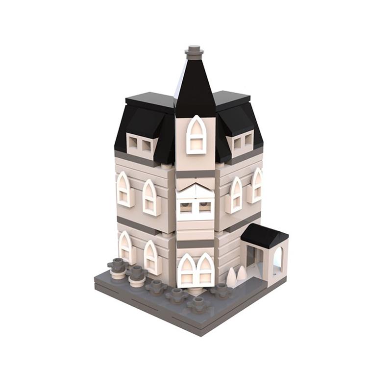 MOC-12846 Addams Family Mansion mini modular