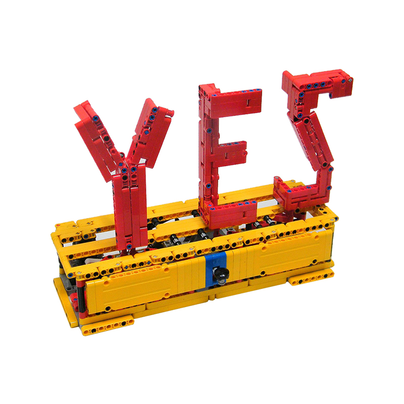 MOC-2805-Yes / No Sculpture