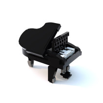 MOC-13192 - Grand Piano (Functional!)