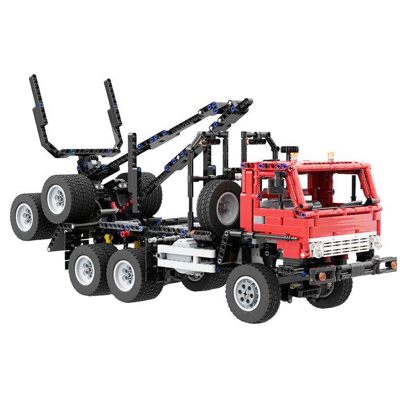 MOC-26856 KAMAZ 53228 Logging truck