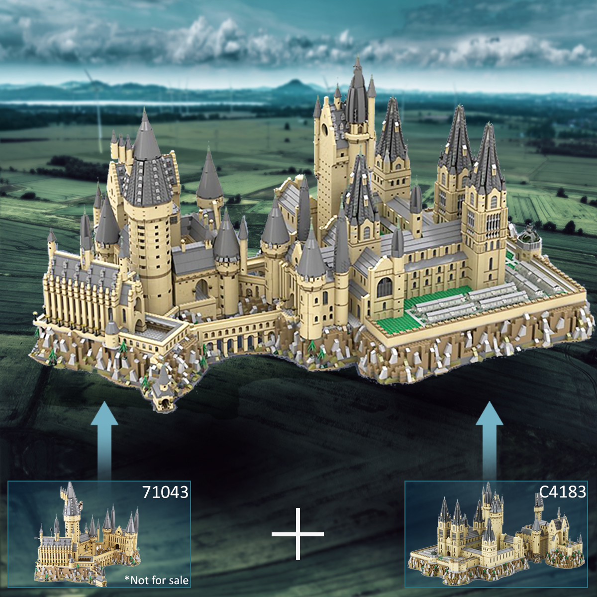 MOC-30884 Hogwart's Castle (71043) Epic Extension